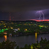 Lighting over West Lake Hills - Austin, Texas