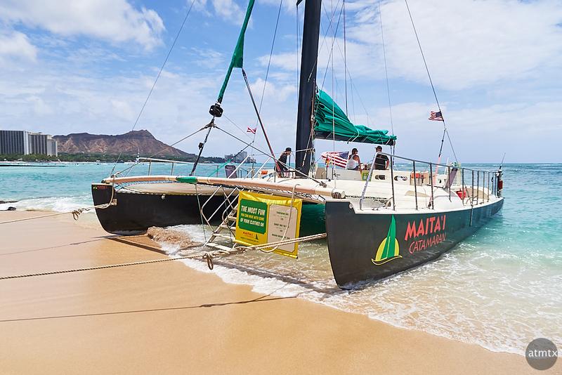 Maita'i Awaits, Waikiki Beach - Honolulu, Hawaii