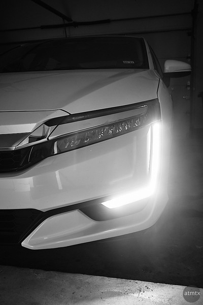 Honda Clarity in the Garage - Austin, Texas