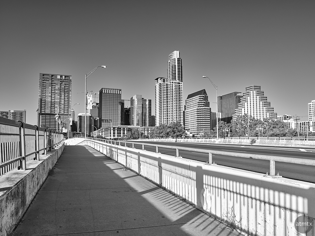 Rising Above the First Street Bridge - Austin, Texas