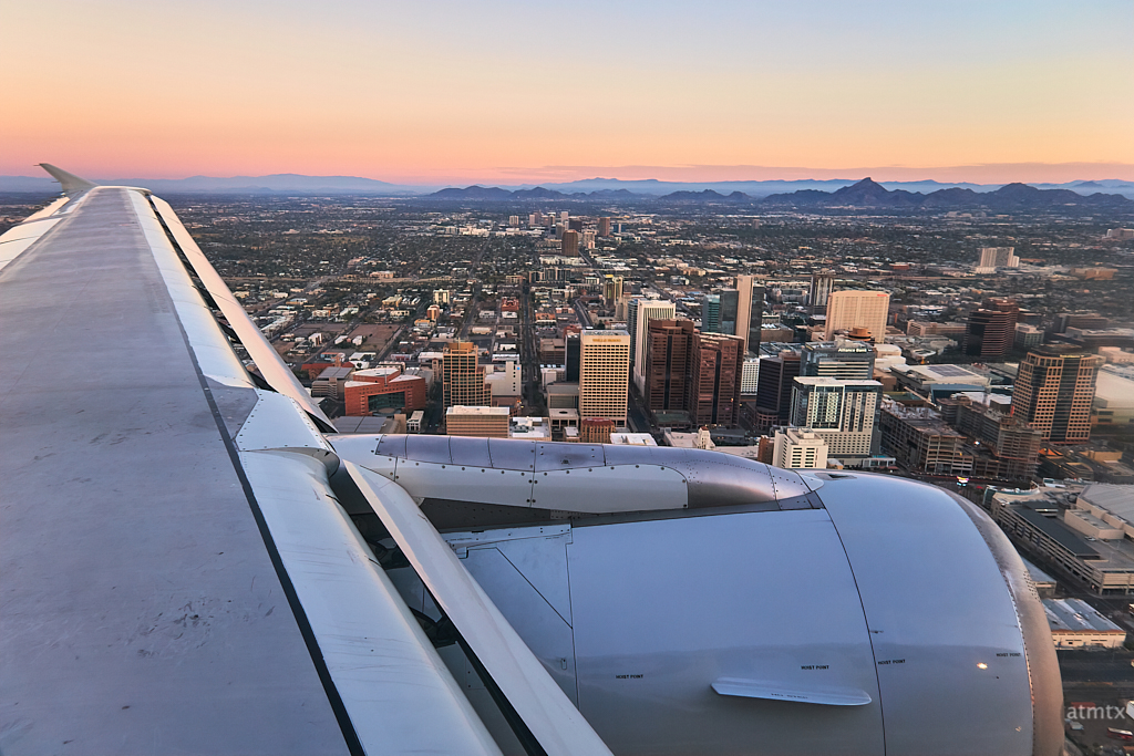 Flying over Downtown - Phoenix, Arizona