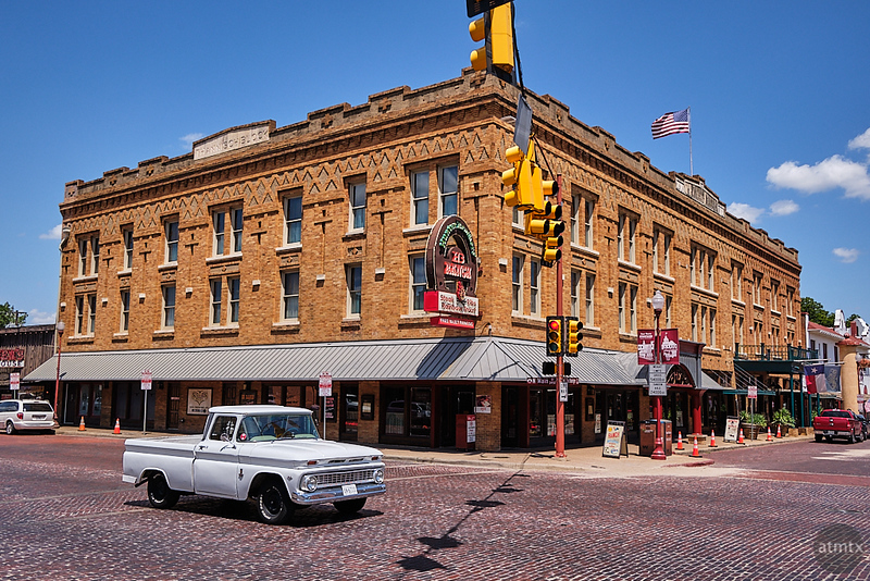 Stockyards Hotel and Pickup Truck - Fort Worth, Texas