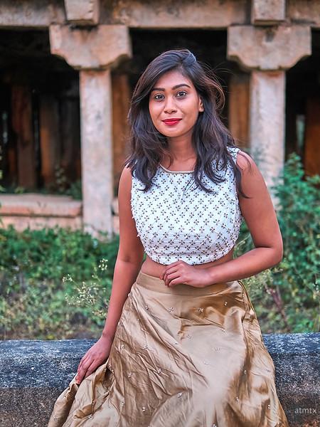 Veena at the Temple - Bangalore, India