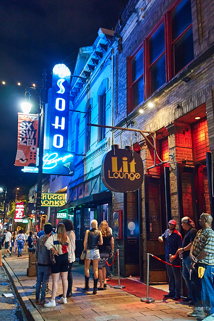 Blue and Orange, 6th Street - Austin, Texas