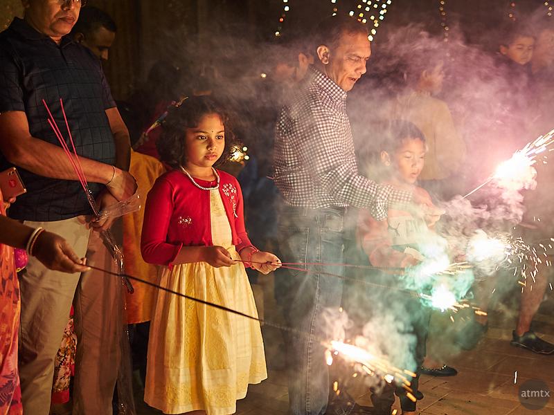 Sparklers, Diwali 2018 - Austin, Texas