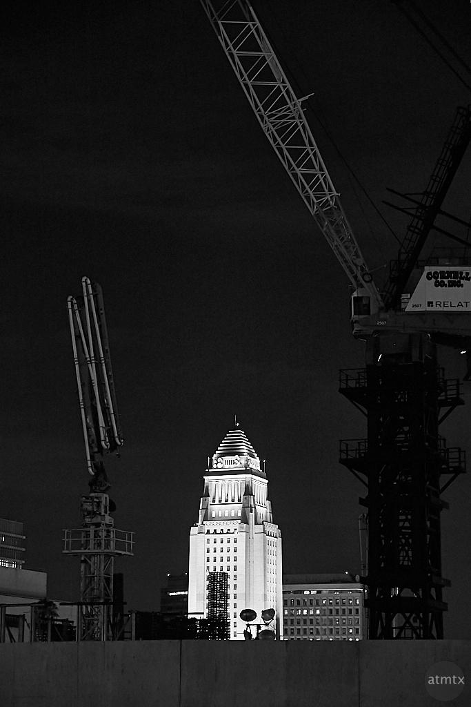 City Hall, Framed - Los Angeles, California