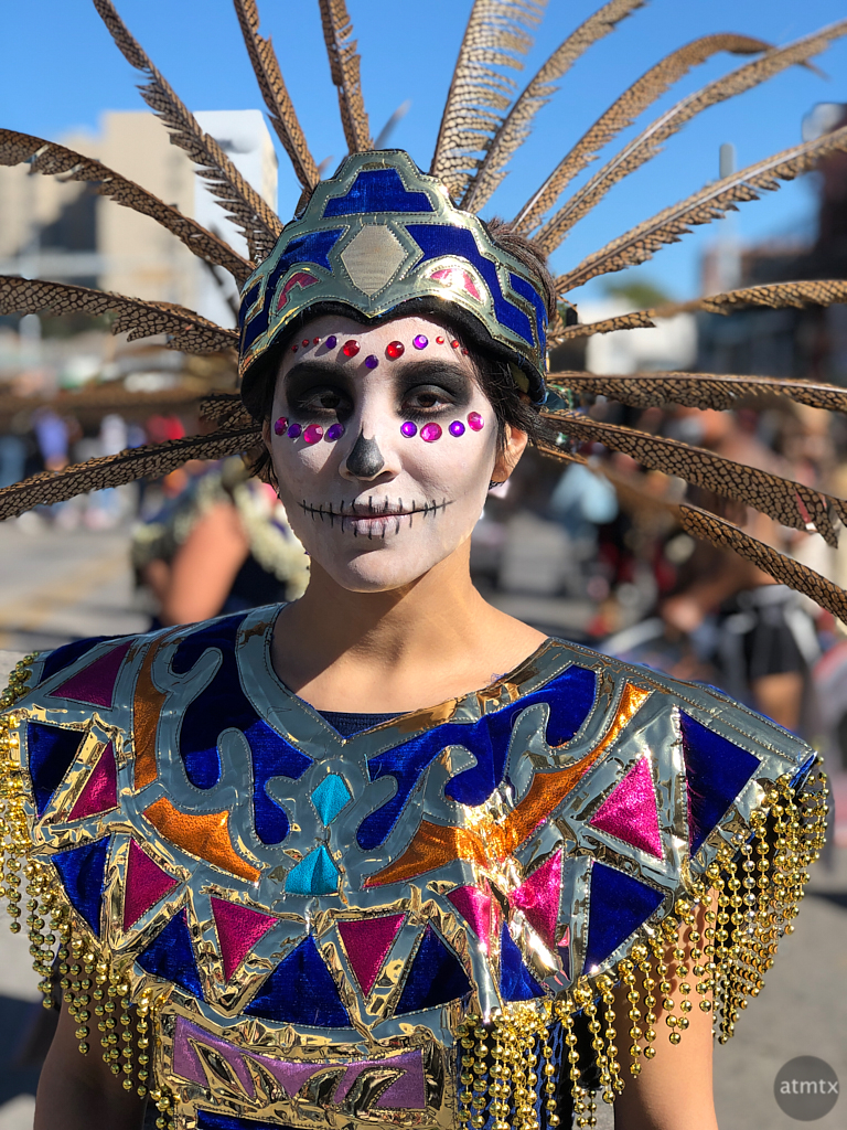 Sara, Dia de los Muertos - Austin, Texas (iPhone, before)