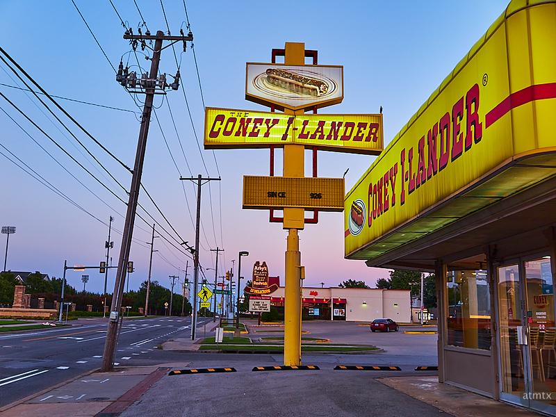 The Coney I-Lander at Dusk - Tulsa, Oklahoma