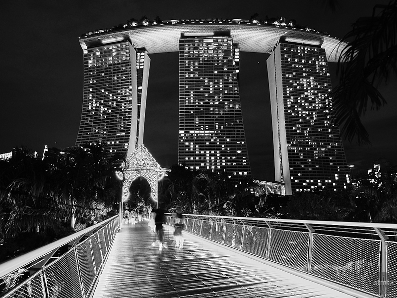 The Bridge to Marina Bay Sands - Singapore