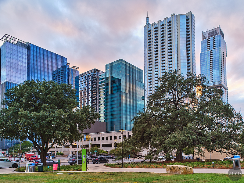 Republic Square Looking Southwest - Austin, Texas