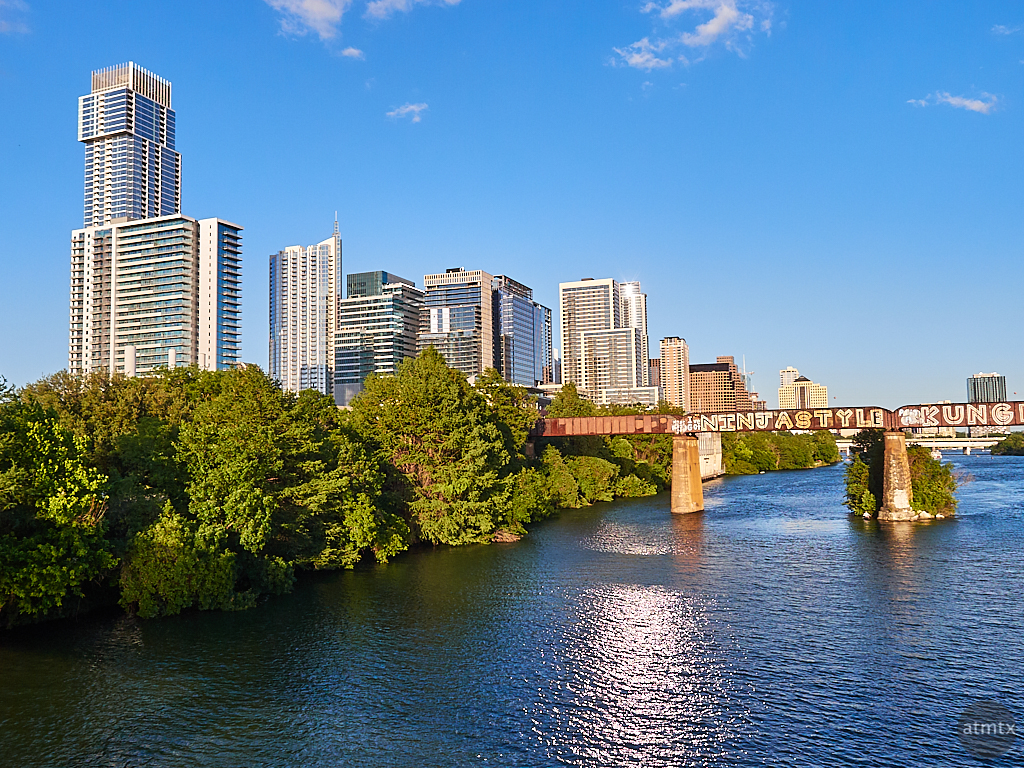 View from the Pfluger Pedestrian Bridge - Austin, Texas