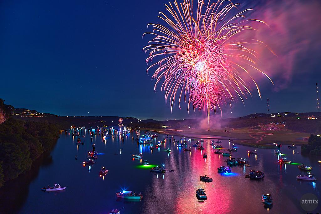 Fireworks over Lake Austin - Austin, Texas