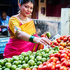 Sahana at the Vegetable Stand - Bangalore, India