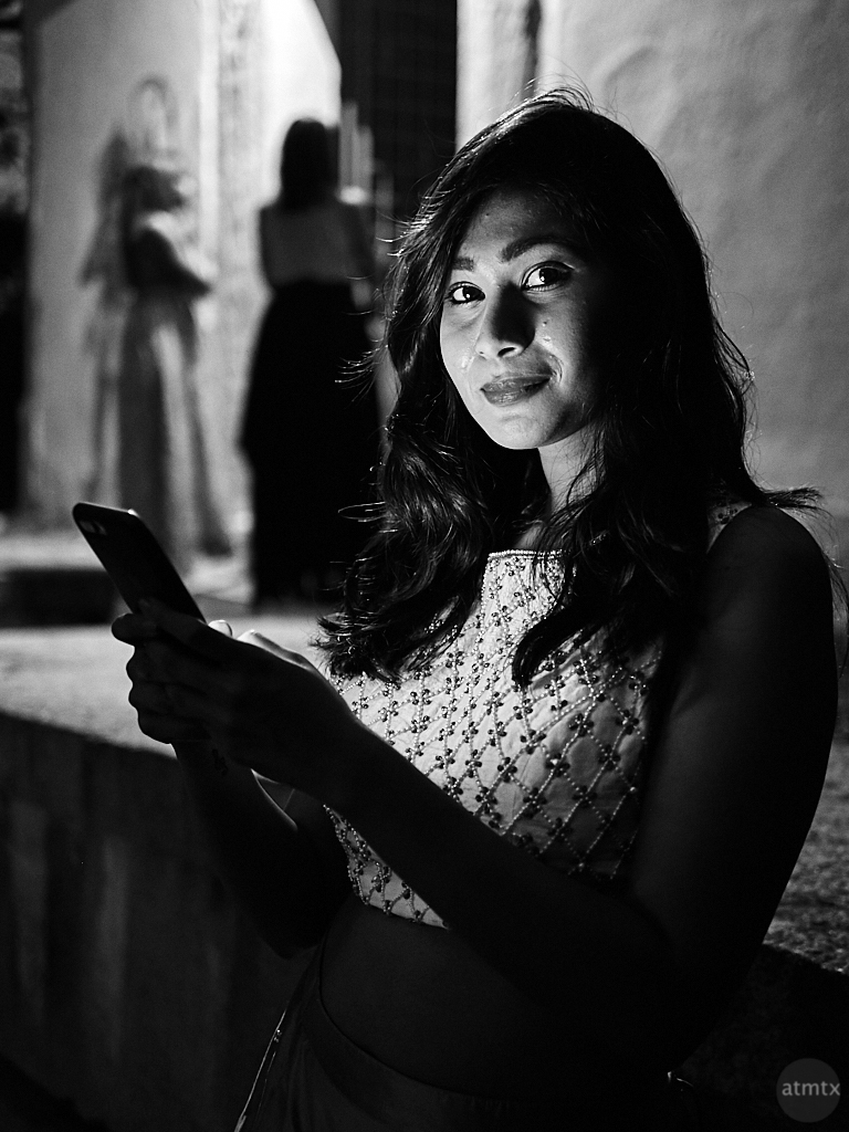 Veena Lit by Smartphone - Bangalore, India