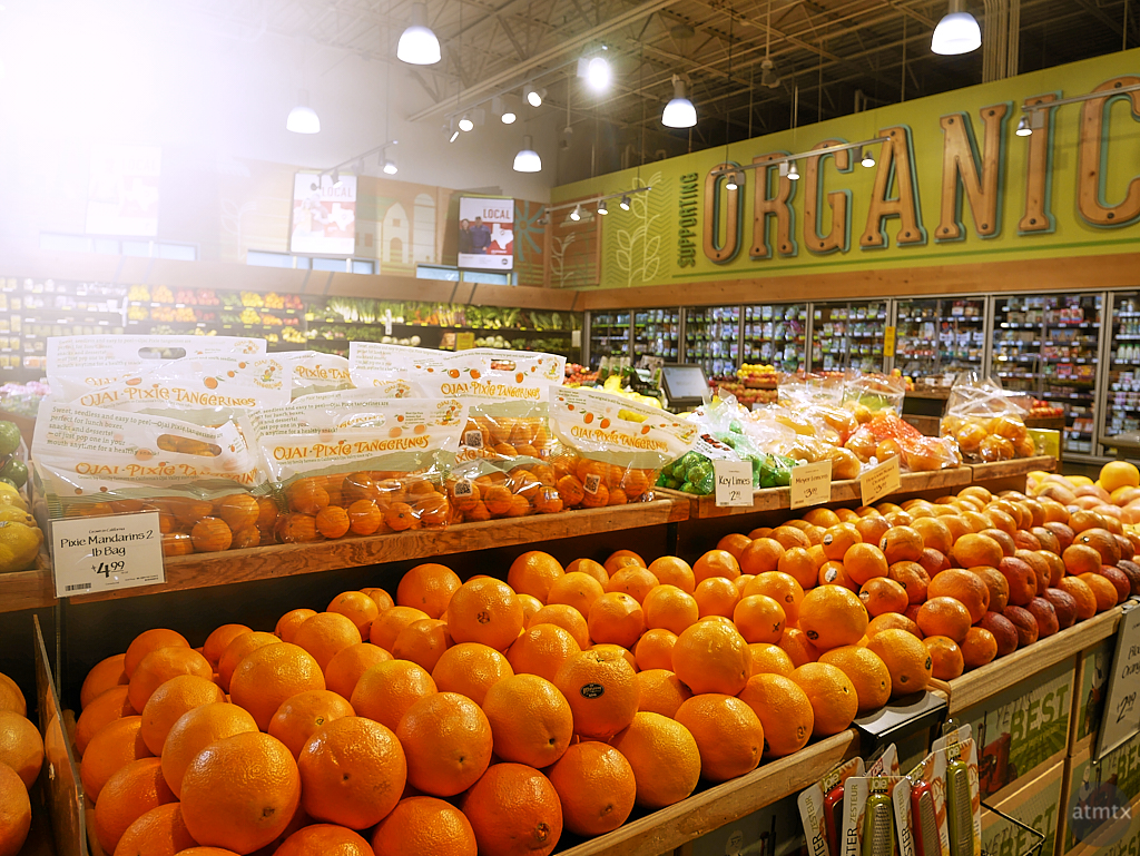 Sunshine and Whole Foods Oranges - Austin, Texas
