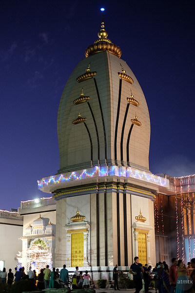 Temple at Blue Hour - Austin, Texas (Fujifilm, JPEG)