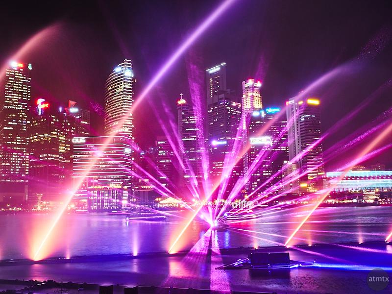 Light Show and Skyline - Singapore