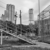 Baseball Stand and Skyscrapers - Austin, Texas