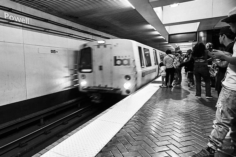 BART Arrives - San Francisco, California
