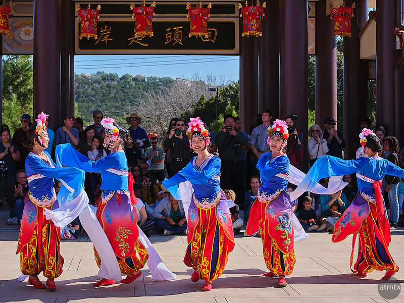 Dancing, Chinese New Year 2020 - Austin, Texas