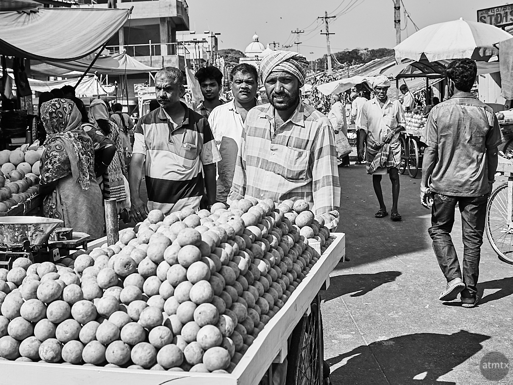 Pushing Potatoes - Mysore, India