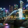 Merlion and Skyline - Singapore