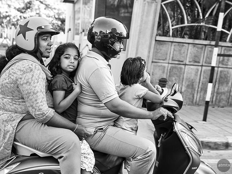 Family on Scooter - Bangalore, India