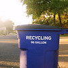 Sunshine and Recycling Bin - Austin, Texas
