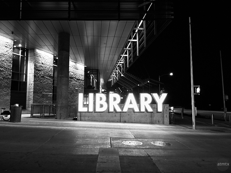 Library at Night - Austin, Texas