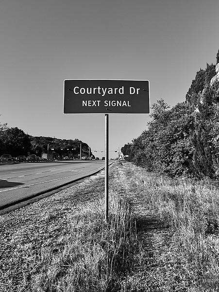 Courtyard Sign - Austin, Texas