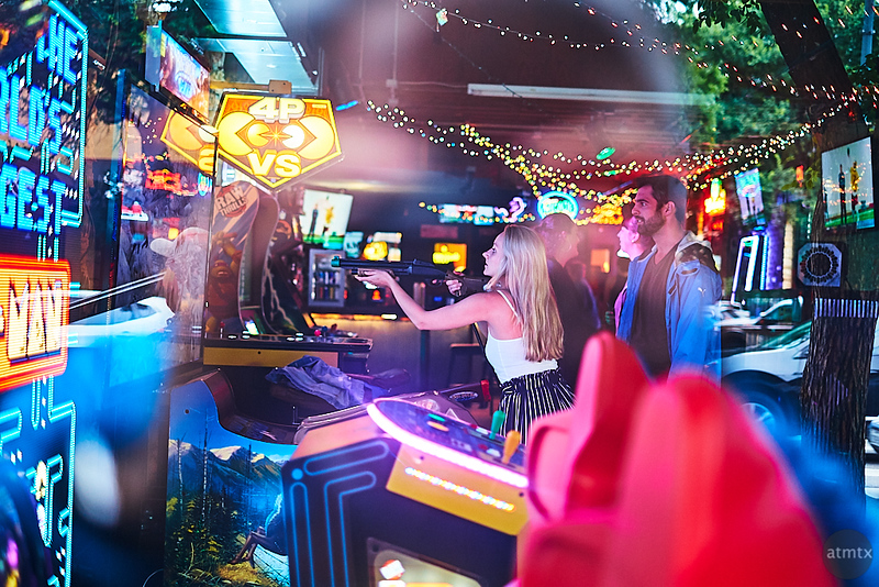 Arcade Shooter, 6th Street - Austin, Texas