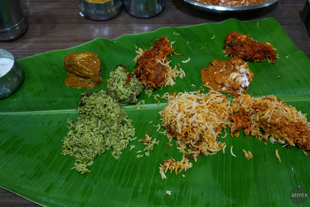 Lunch on a Banana Leaf - Bangalore, India