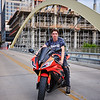 Damien and his Motorcycle - Austin, Texas