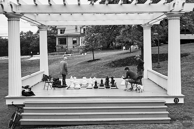 Chess on Stage, Wooldridge Square  - Austin, Texas