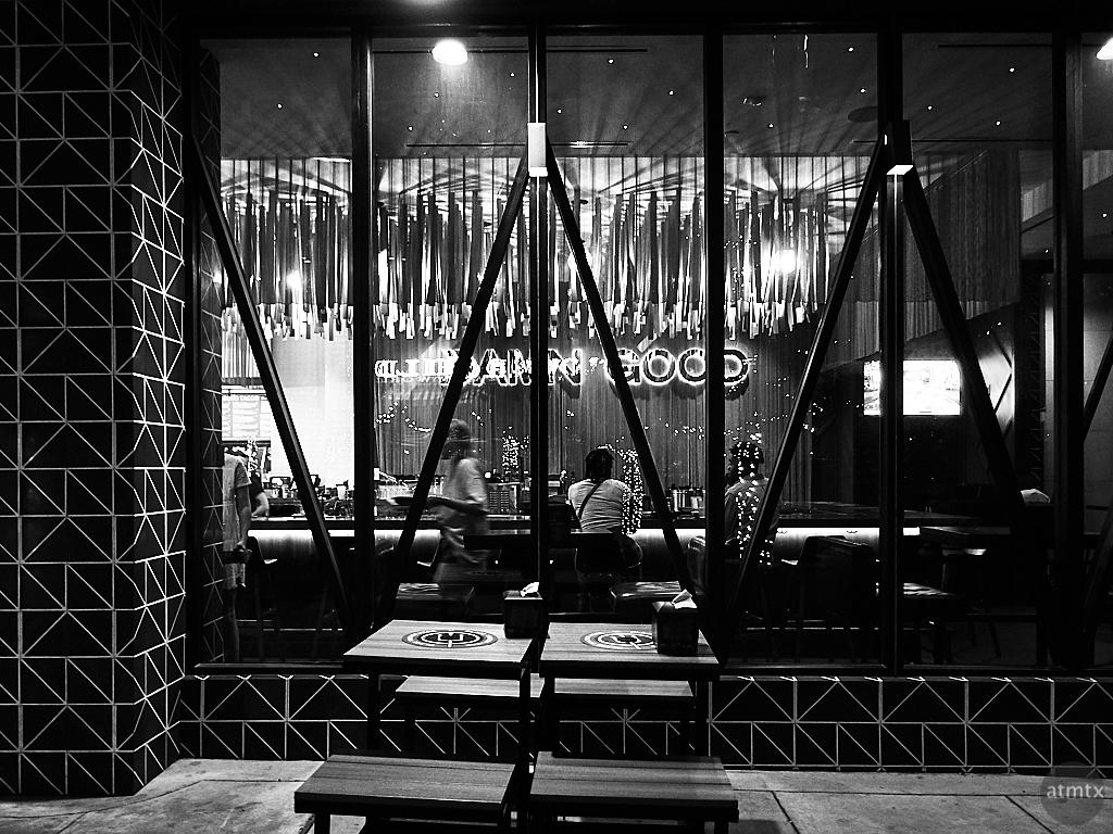 Torchy's Glowing Interior - Austin, Texas