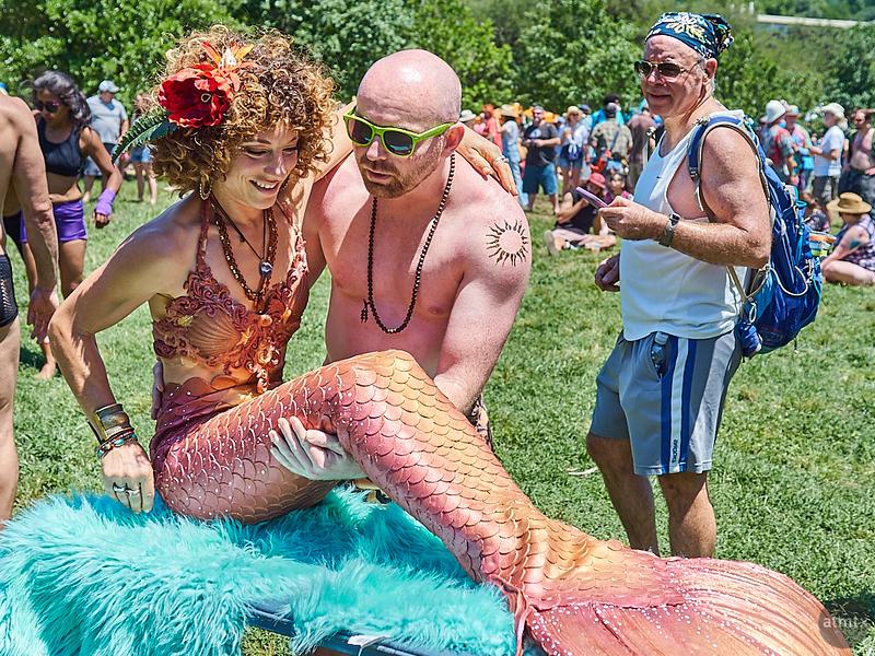 Rescuing a Mermaid, Eeyore's Birthday Party - Austin, Texas