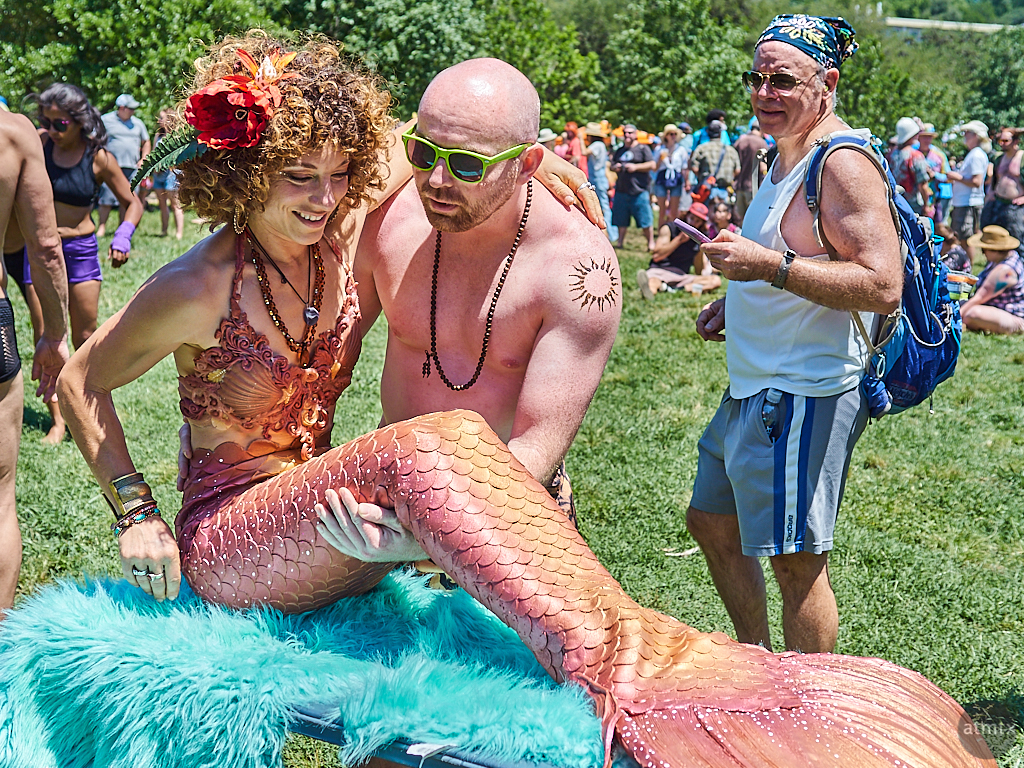 Rescuing a Mermaid, Eeyore's Birthday Party - Austin, Texas