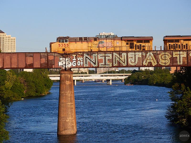 View from the Pfluger Pedestrian Bridge - Austin, Texas