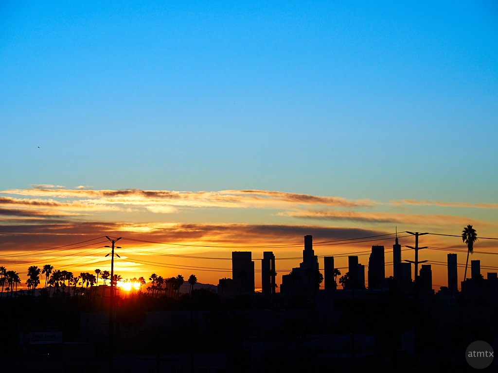 Sunrise Over Downtown - Los Angeles, California