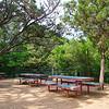Empty Picnic Tables, Waterloo Ice House - Austin, Texas