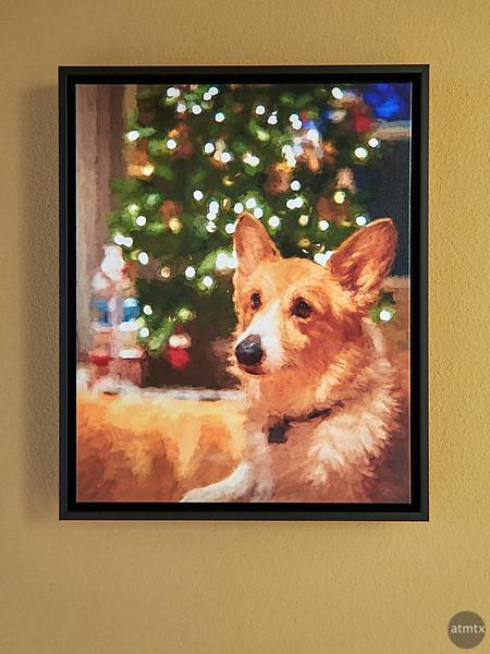 Lucky, Framed Art-ish Print - Austin, Texas