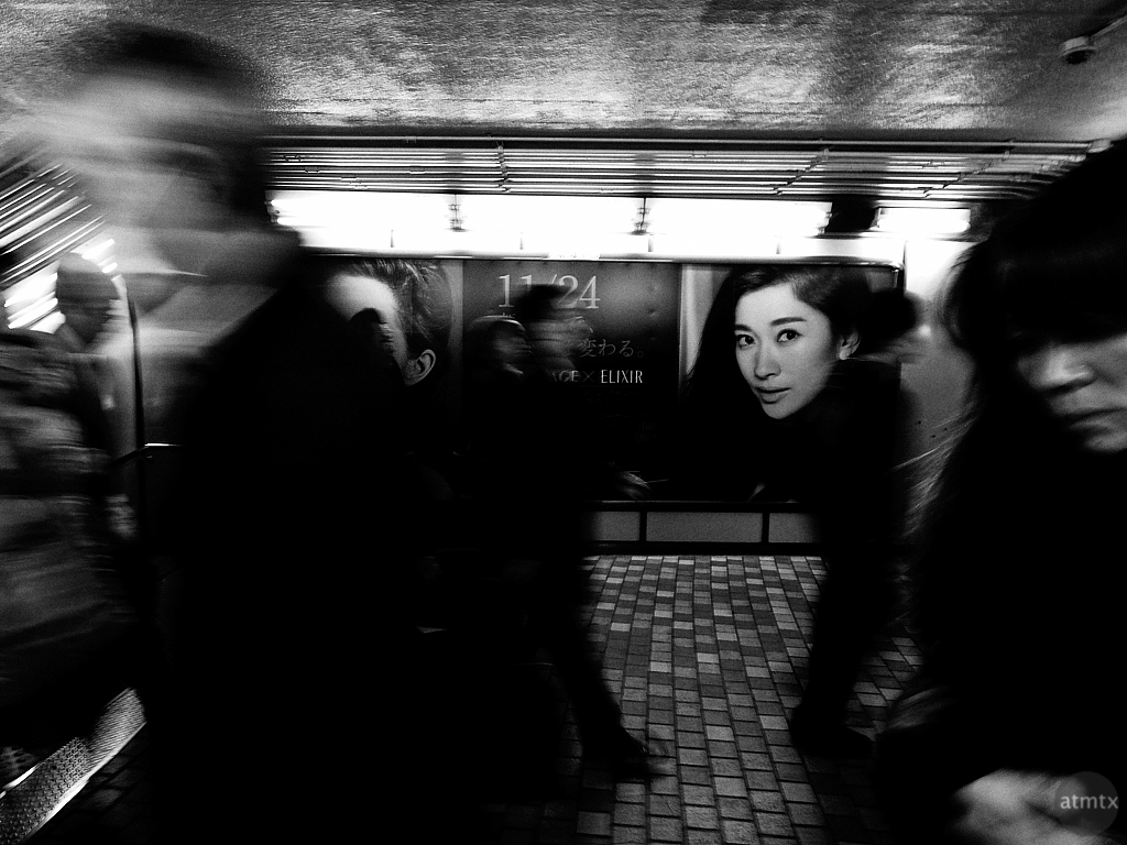 Rush Hour, Train Station - Tokyo, Japan