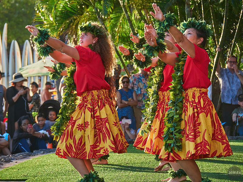 Hula Show, Kuhio Beach - Honolulu, Hawaii