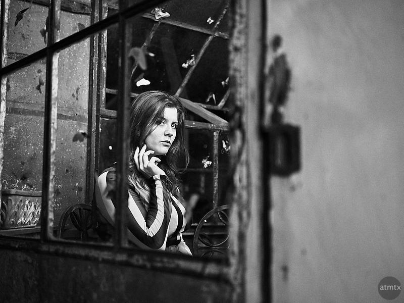 Bridget through the Window - Austin, Texas