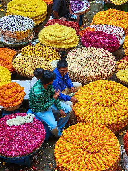 Flower Market, KR Market - Bangalore, India