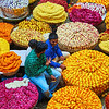 Flower Market, KR Market - Bangalore, India