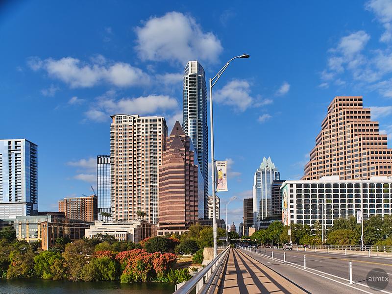 Skyline, Congress Avenue Bridge - Austin, Texas