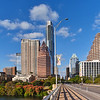 Skyline, Congress Avenue Bridge - Austin, Texas