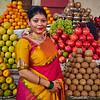 Sahana at the Fruit Stand - Bangalore, India