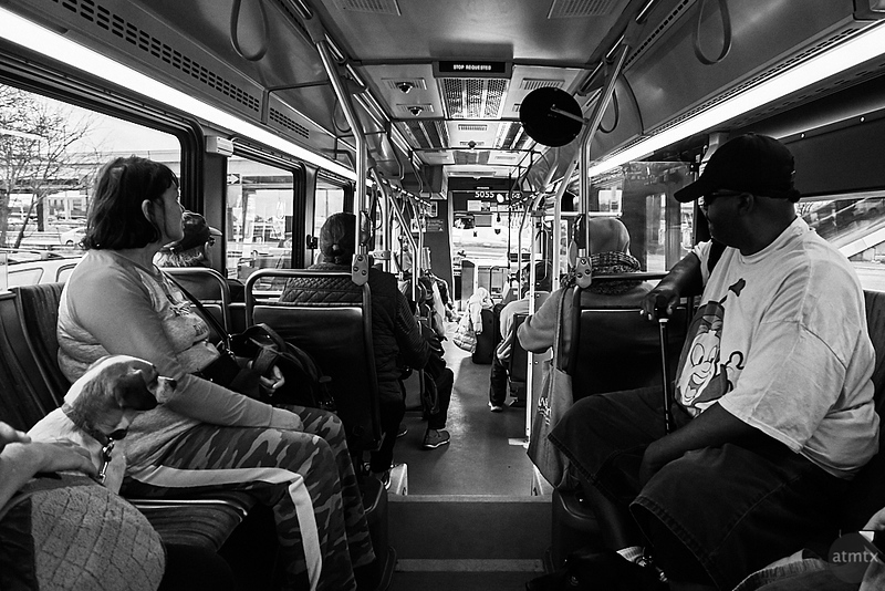 Interior, Metro Rapid Bus - Austin, Texas